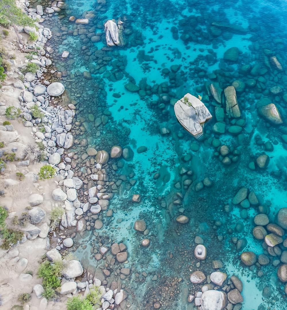 Aerial view of Bonsai Rock
