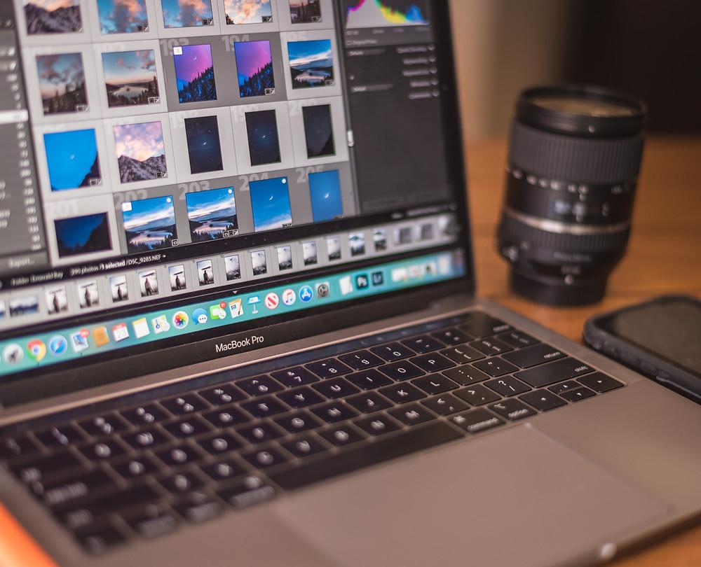 Adobe Lightroom on Macbook Pro 13 inch