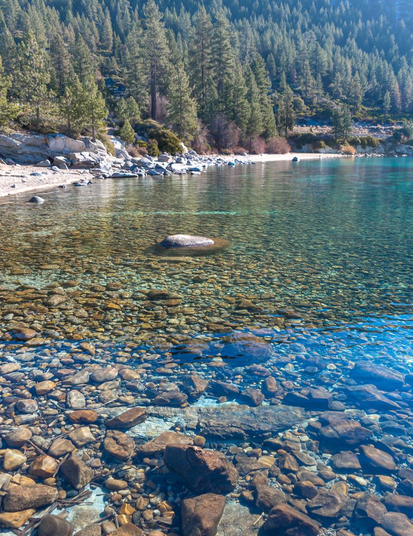 hidden beach in lake tahoe