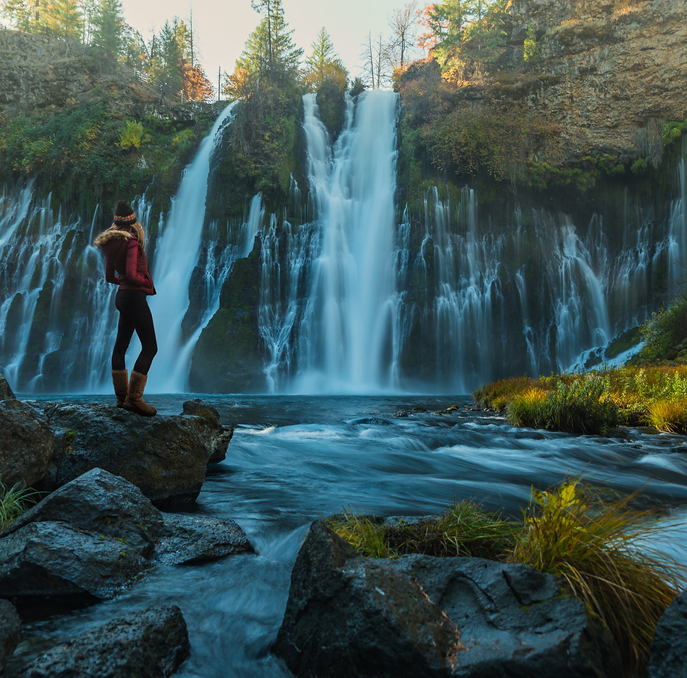 Burney Falls hike at McArthur-Burney Falls Memorial State Park in Shasta County California