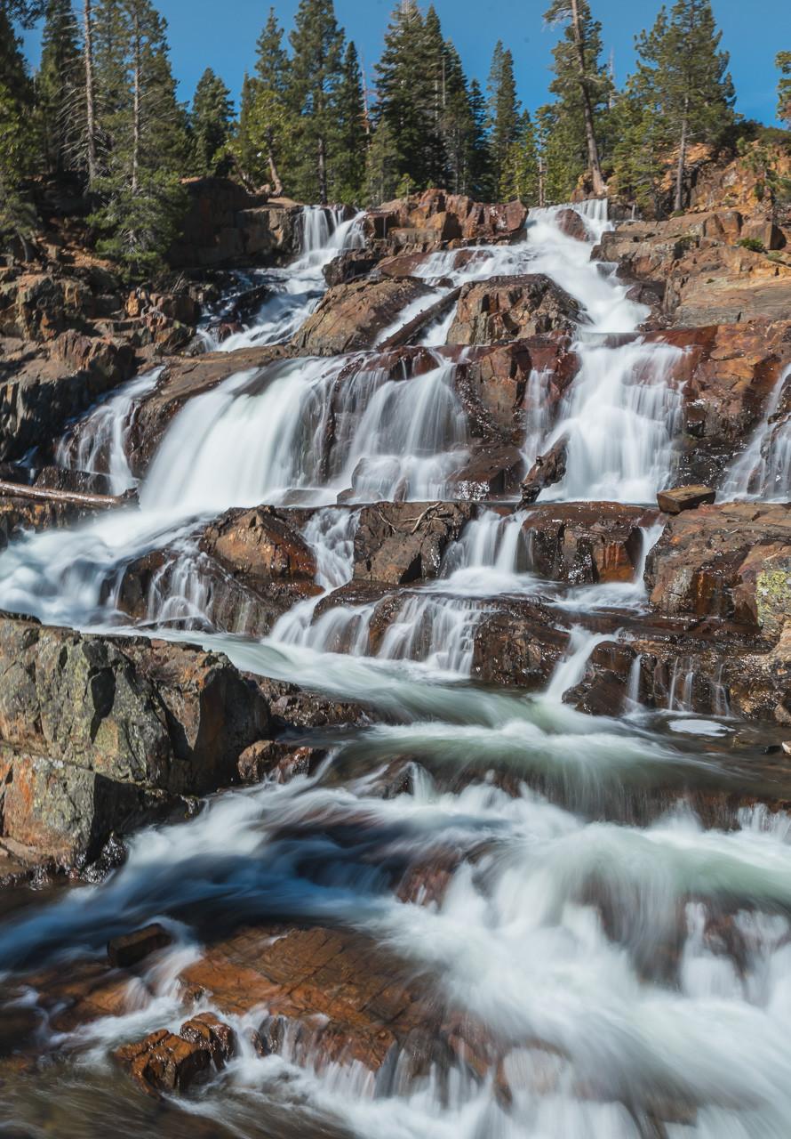 Glen Alpine WAterfall in South Lake Tahoe California
