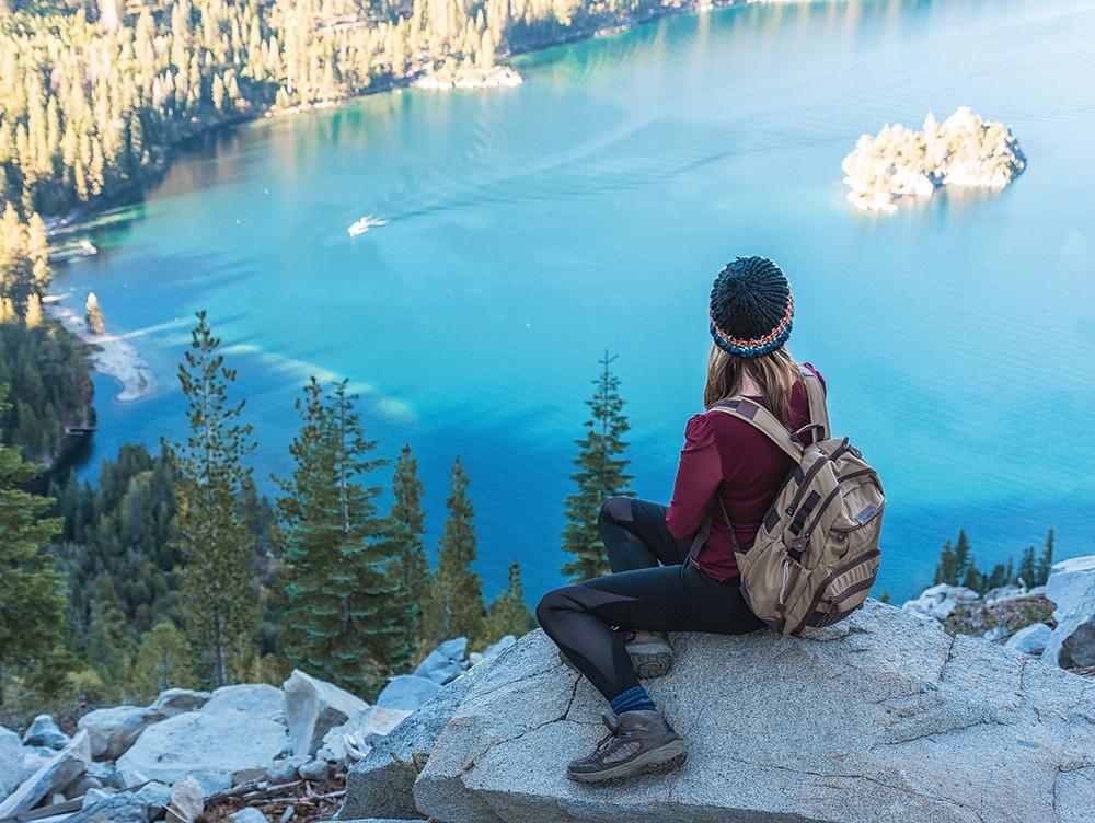 Hiking at Emerald Bay in Lake Tahoe
