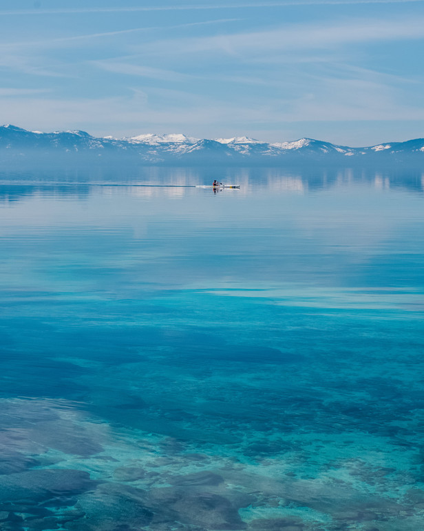 Sand Harbor Kayaker