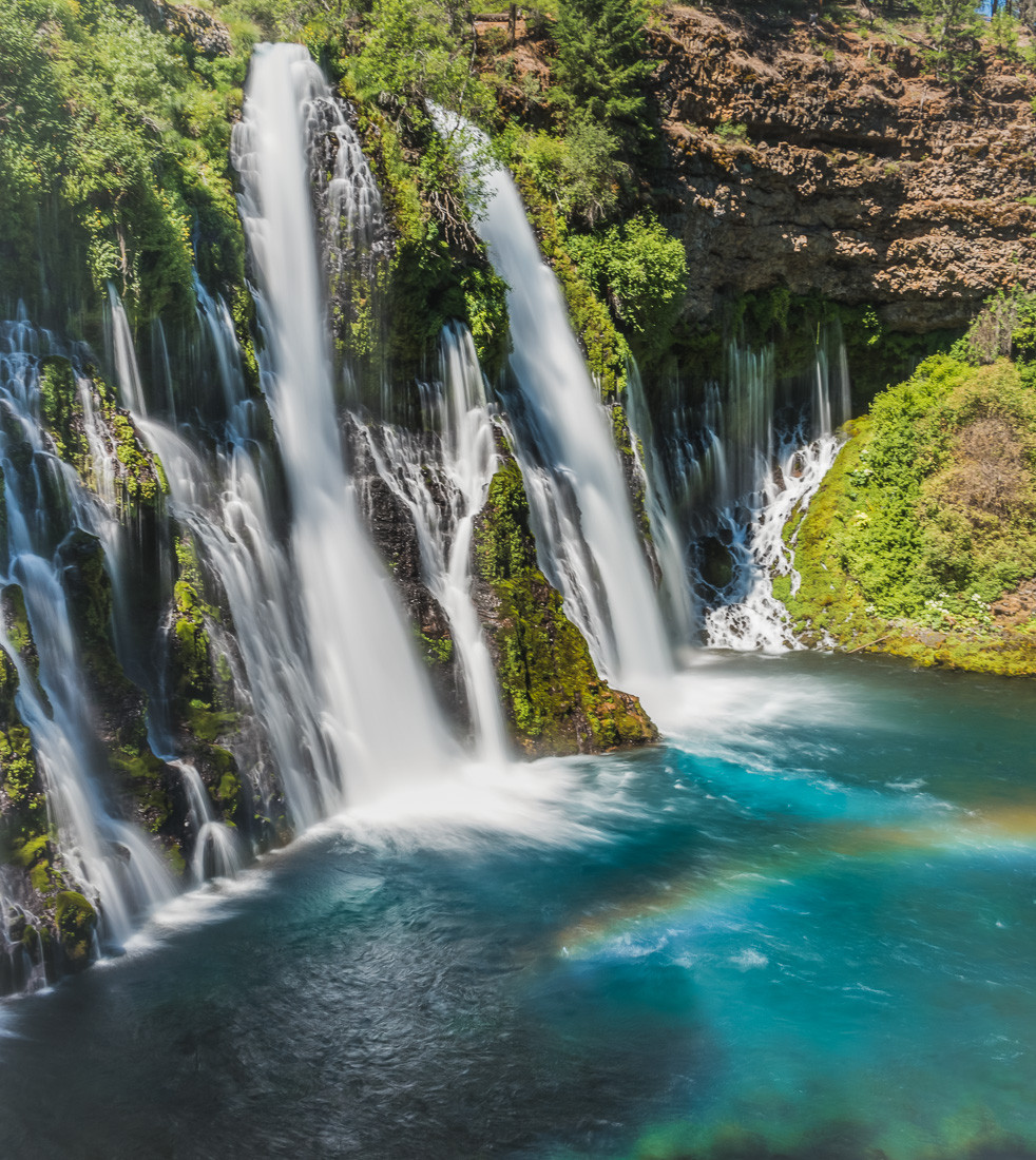 Catching a rainbow at Burney Falls in Burney California
