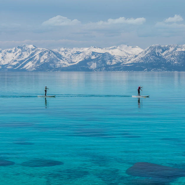 Paddle Boarders Sand Harbor Lake Tahoe