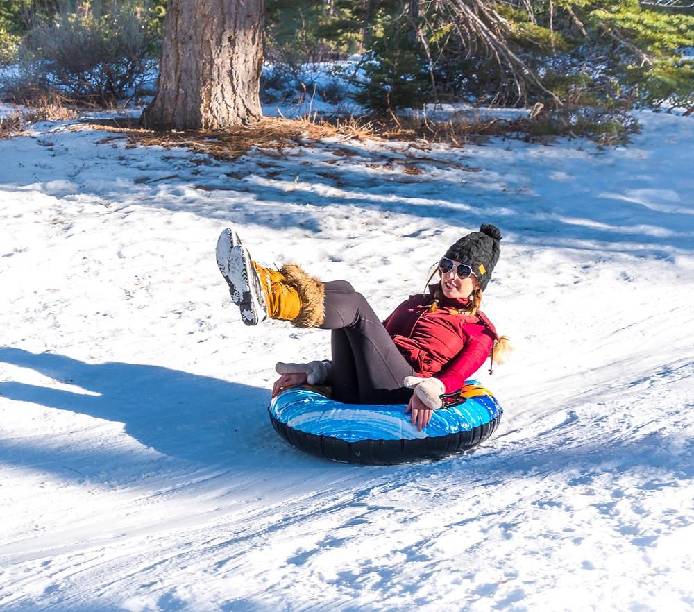 Snow tubing in Lake Tahoe