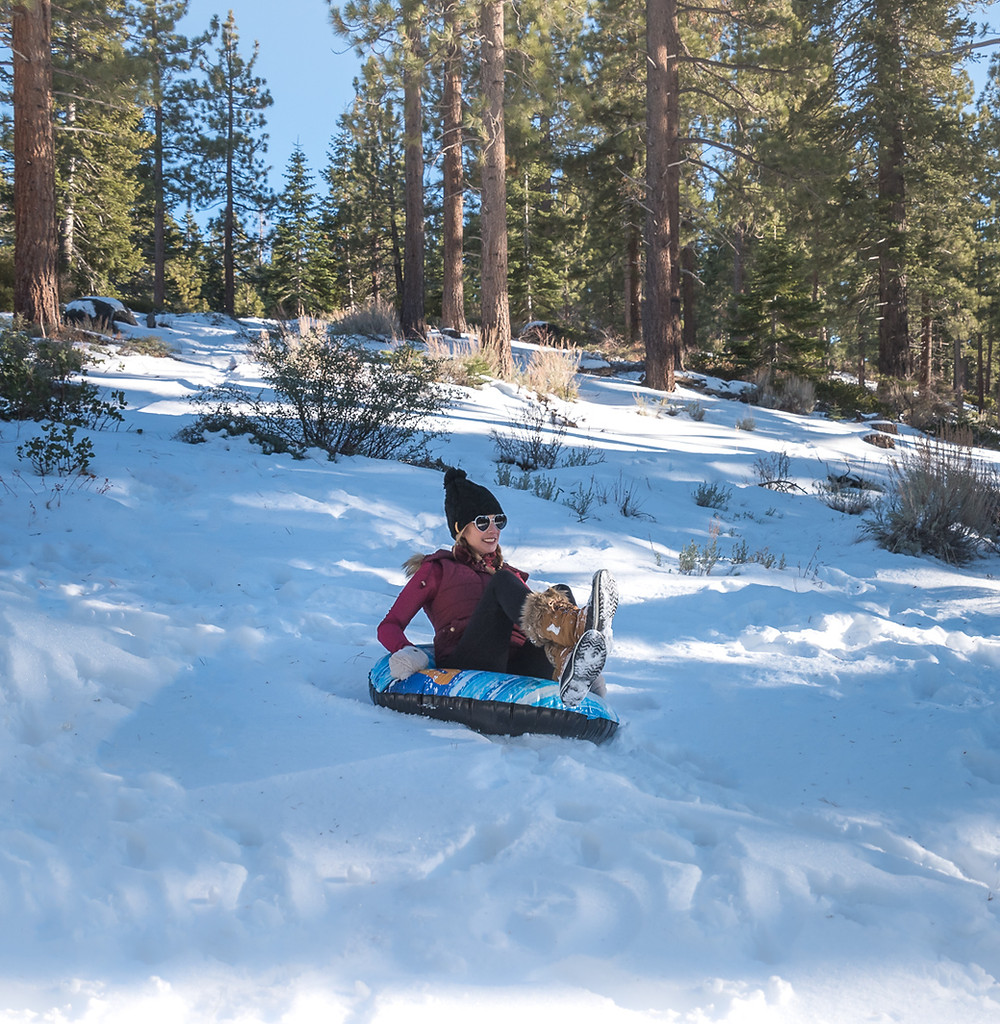 snow tubing in lake tahoe california