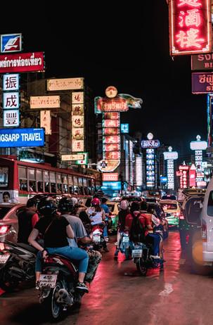 Chinatown Lights in Bangkok Thailand