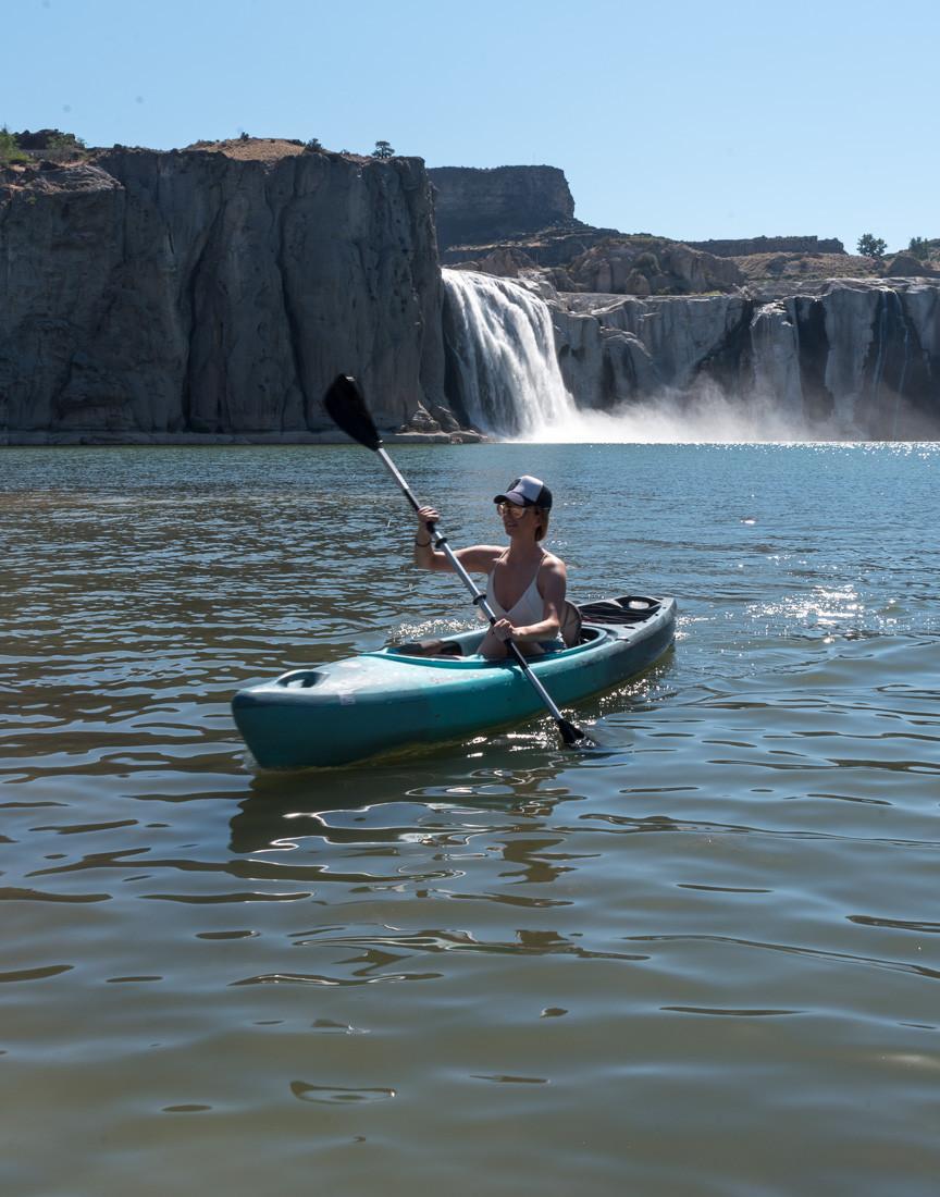 Kayaking to shoshone falls in twin falls idaho