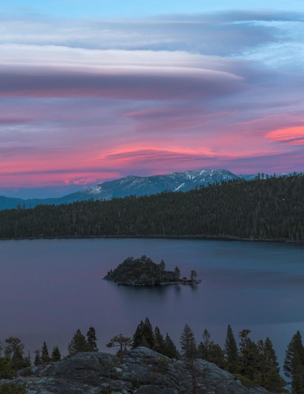 Sunset at Emerald Bay, Lake Tahoe