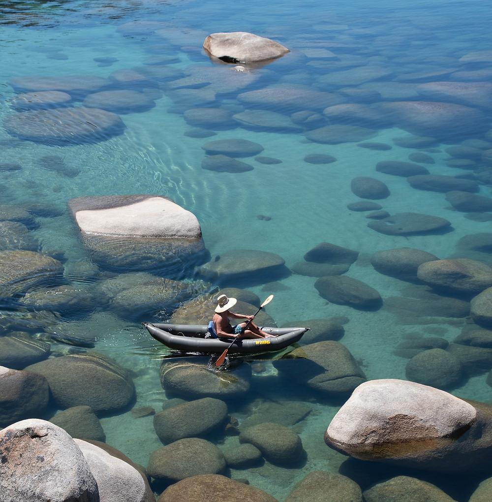 Kayaking in Lake Tahoe Nevada