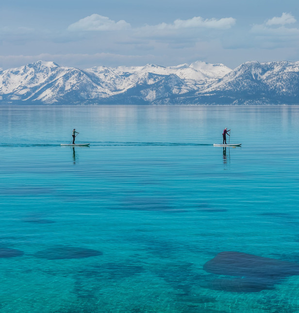Stand Up Paddle-Boarders on Lake Tahoe's