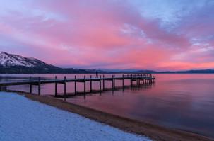 Sunrise at Valhalla Pier in Lake Tahoe C