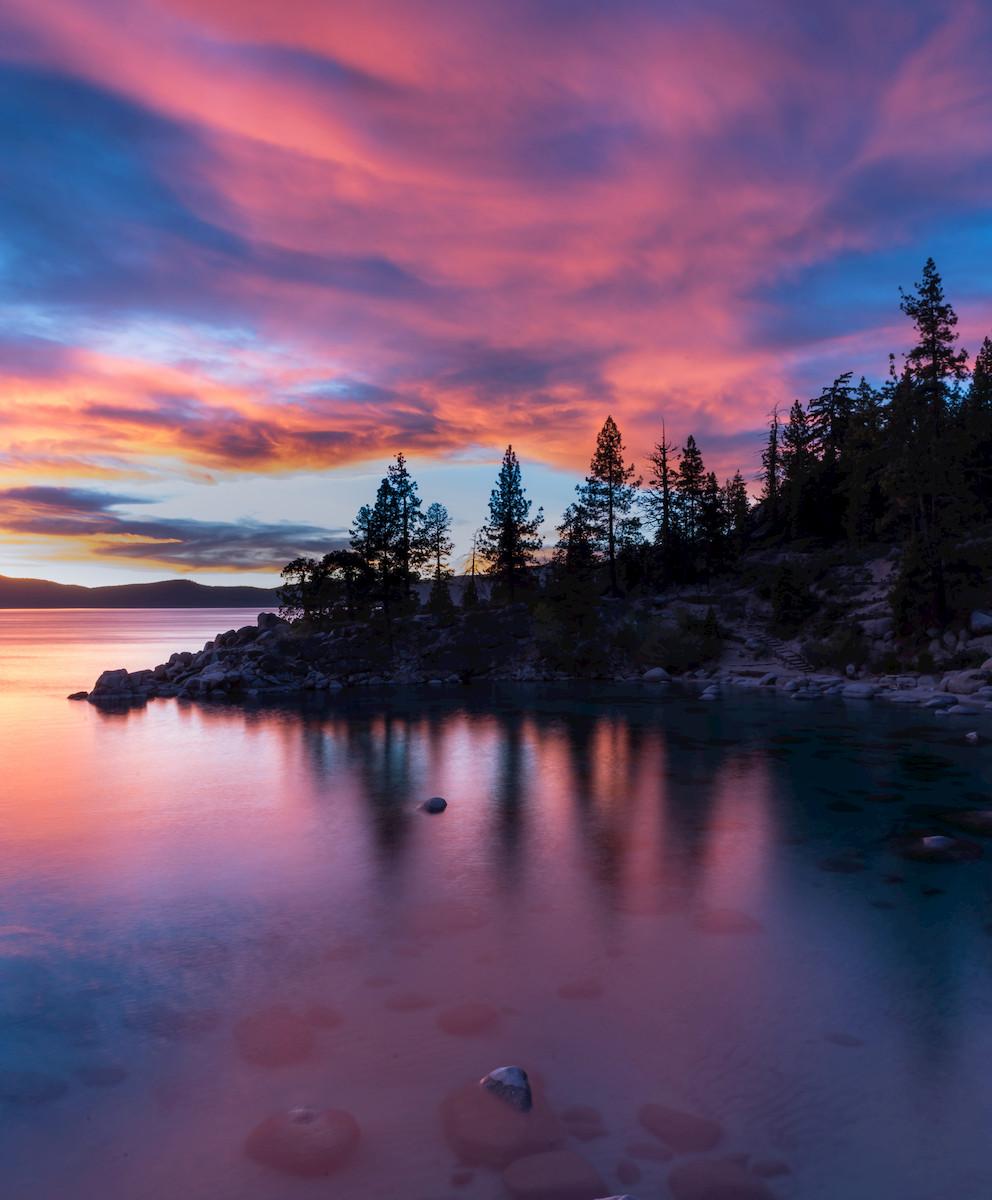 Lake Tahoe Sunset on Lake tahoe's east shore
