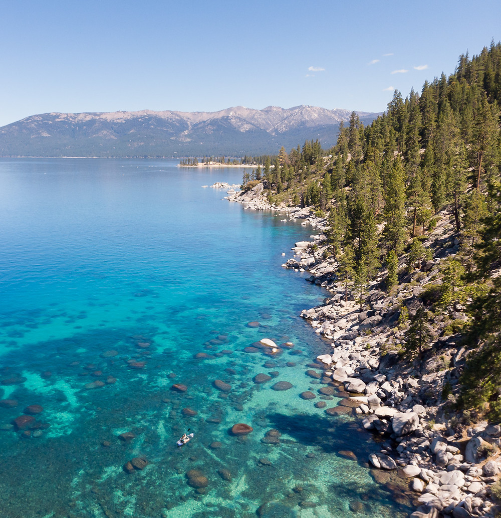 clear kayaking in lake tahoe with clearly tahoe