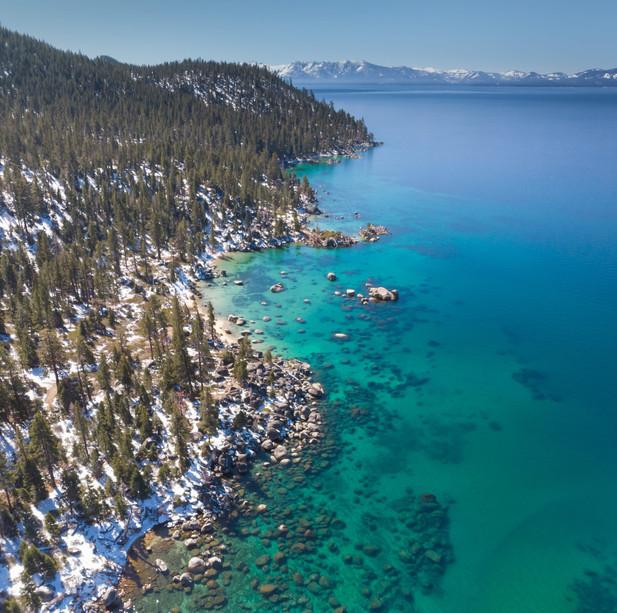 Lake Tahoe East Shore Aerial View