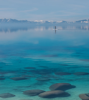 Stand Up Paddle Boarder on Lake Tahoe's