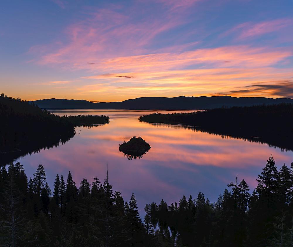 Emerald Bay Sunset in Lake Tahoe