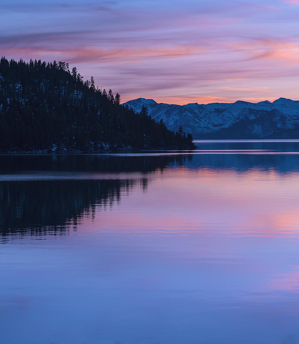 Sunset in Lake Tahoe Nevada