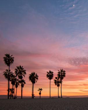 Sunset in Venice Beach California