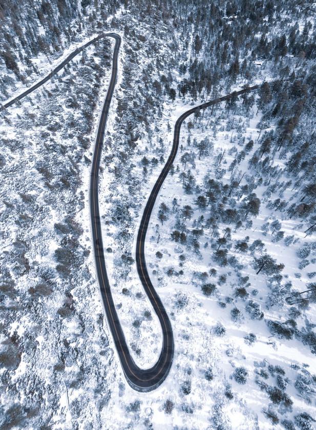 HWY 89 Aerial, Lake Tahoe California