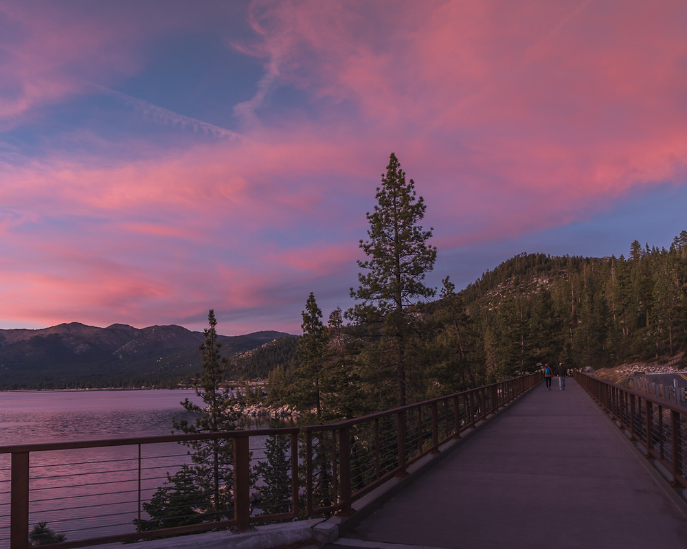 the east shore bike trail in lake tahoe nevada