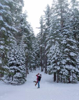 Winter in Lake Tahoe California