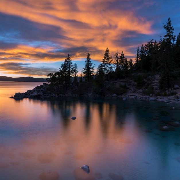 Secret Cove Sunset Lake Tahoe