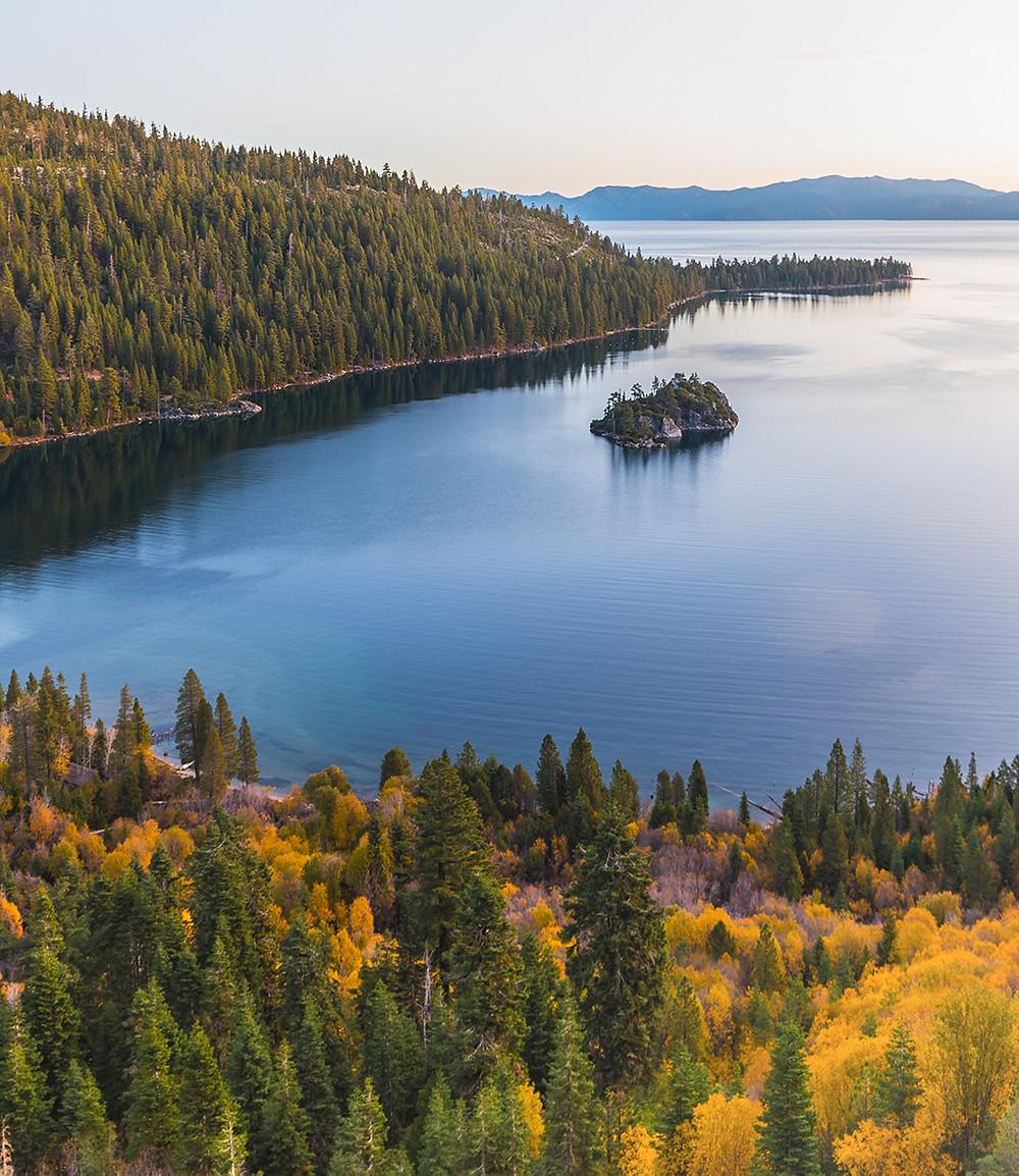Falls colors at Emerald Bay in Lake Tahoe California
