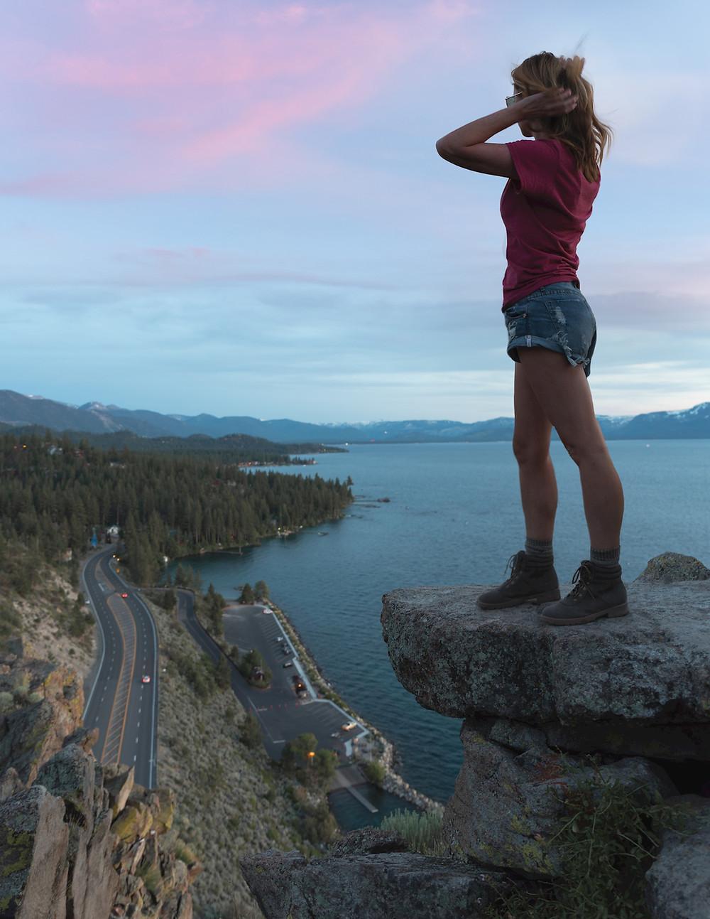 Cave Rock Hike in Lake Tahoe Nevada