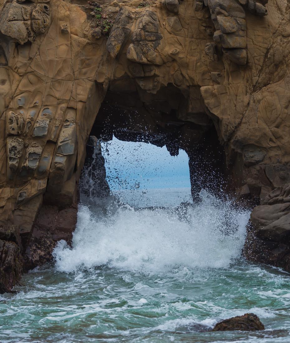 keyhole pfeiffer beach big sur california