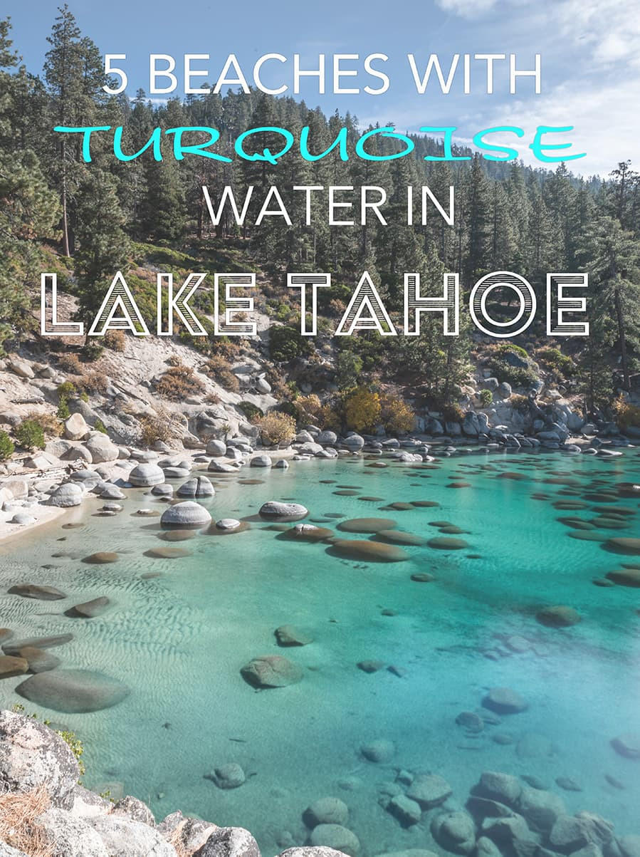 5 beaches with turquoise water in lake tahoe