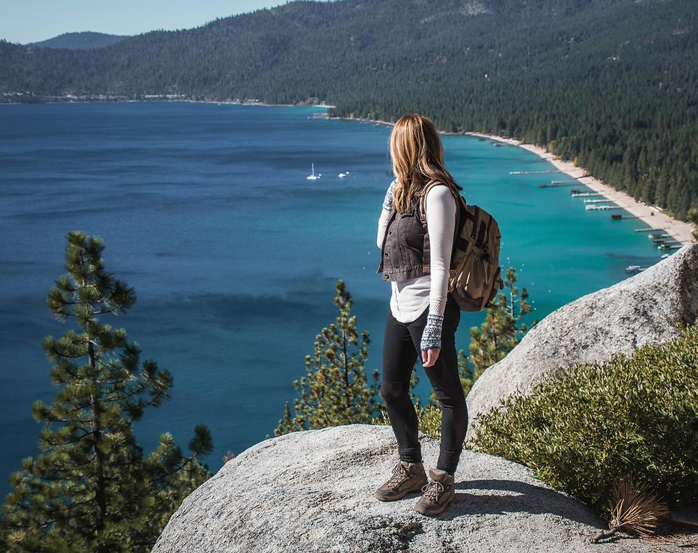 Views from Monkey Rock in Lake Tahoe