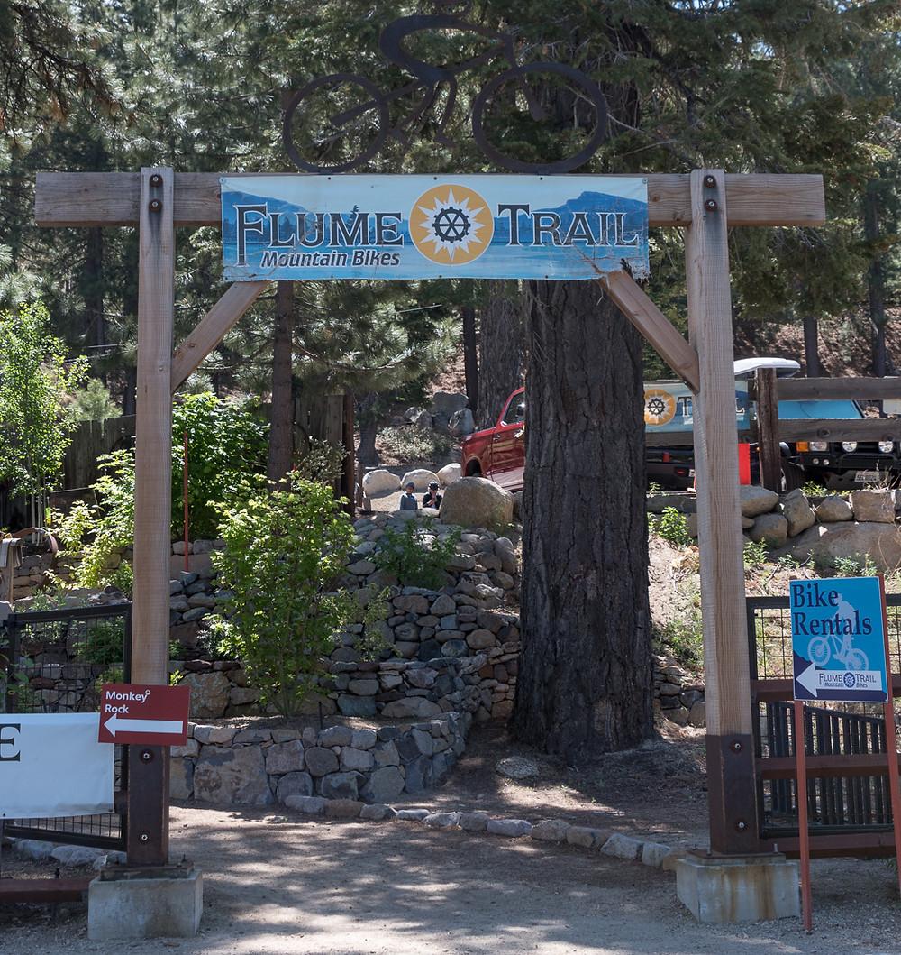 flume trail mountain bikes in lake tahoe