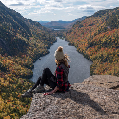 Indian Head Hike in Keene Valley NY in the fall