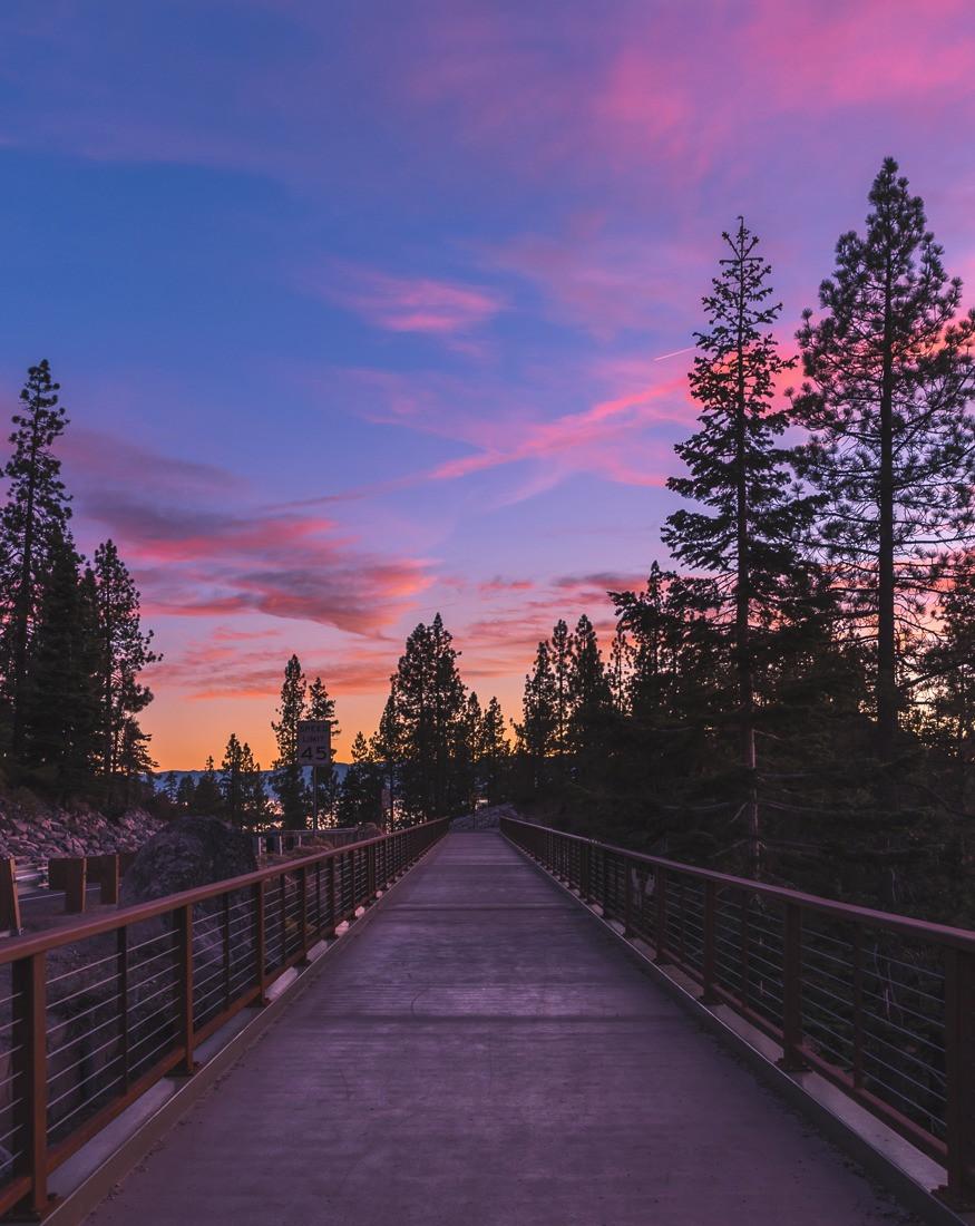 east shore bike trail in lake tahoe