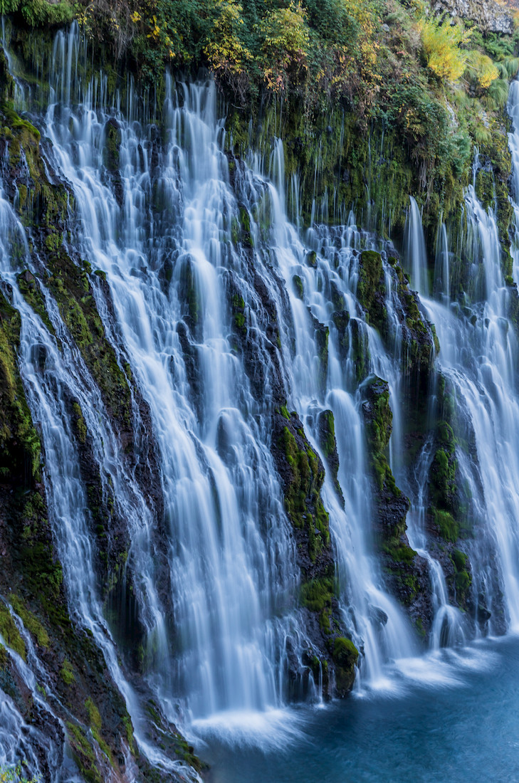 Visiting Burney Falls at McArthur-Burney Falls Memorial State Park in Shasta County California