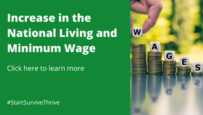 Increase in the National Living and Minimum Wage