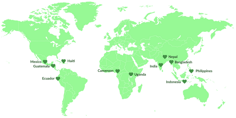 Global Force For Healing World Map 11 Co