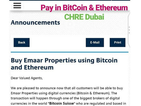 Buy Emaar Properties using Bitcoin and Ethereum