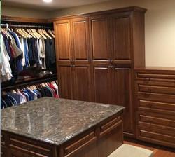 Walk-in custom closet