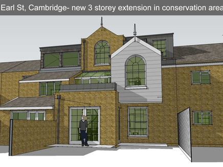 Planning consent granted for beautiful extension in Cambridge Conservation Area