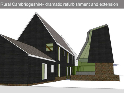 Dramatic refurbishment of and extension to 16th century grade 2 listed building just outside Cambrid