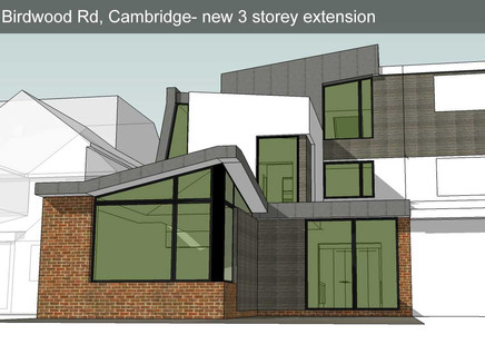 Planning consent granted for a radical extension to yet another 1930's semi-detatched in central