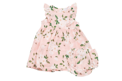 Angel Dear Magnolia Dress and Diaper Cover Set