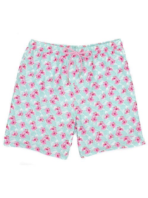 Properly Tied Floral Swim Trunk