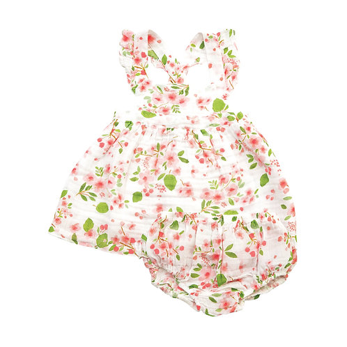 Angel Dear Cherry Blossom Dress and Bloomer Set