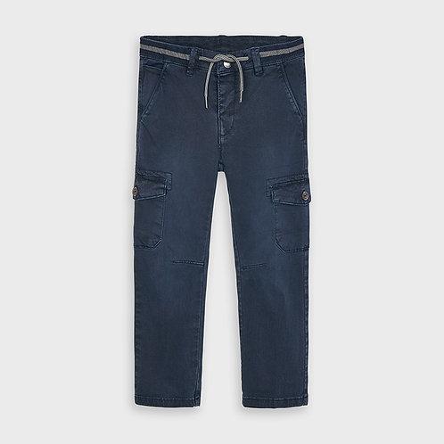 Mayoral Blue Chino Cargo Pant