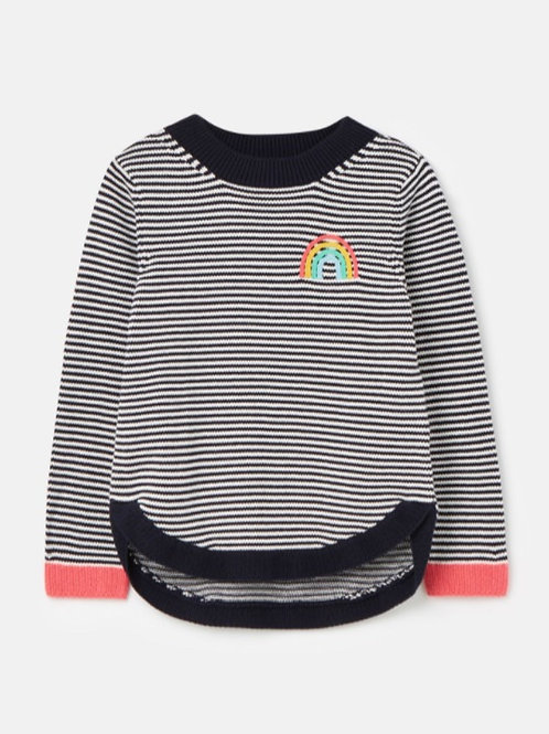 Joules Striped Rainbow Sweater