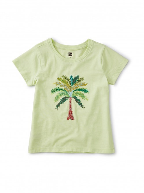 Girls Emroided Palm tree shirt
